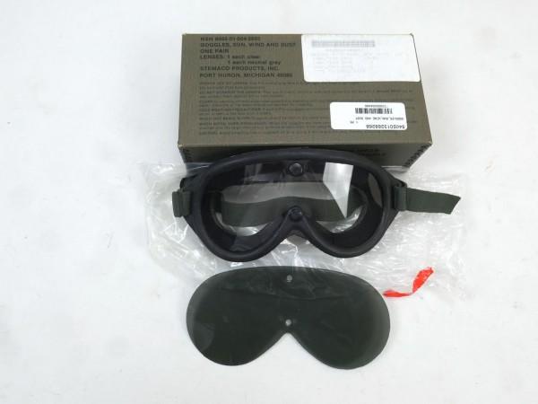 US Army M44 Schutzbrille Goggles Sun Dust & Wind Panzer Brille Staubschutzbrille 1974 Vietnam