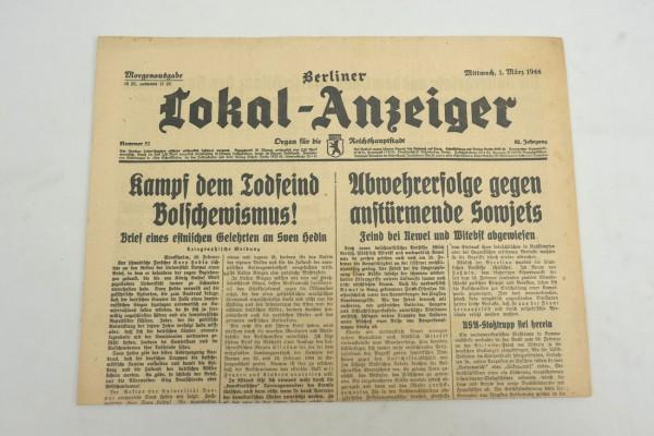 WK2 Vollständige Tageszeitung - Berliner Lokal-Anzeiger 01.März 1944 - Morgenausgabe