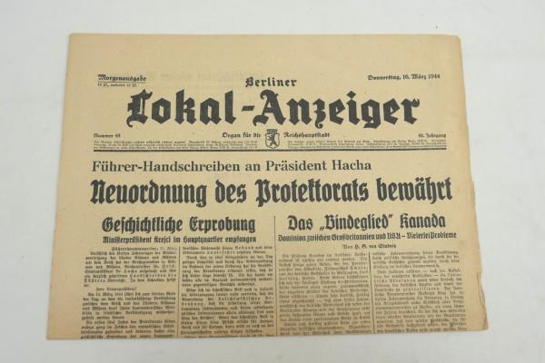 WK2 Vollständige Tageszeitung - Berliner Lokal-Anzeiger 16.März 1944 - Morgenausgabe