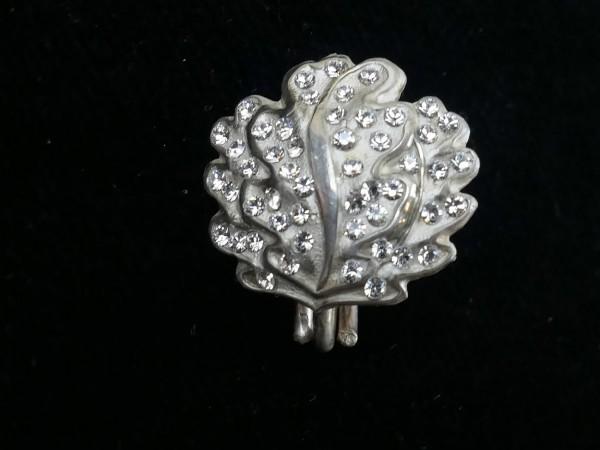Eichenlaub 8oo`er Silber mit Brillantimitationen