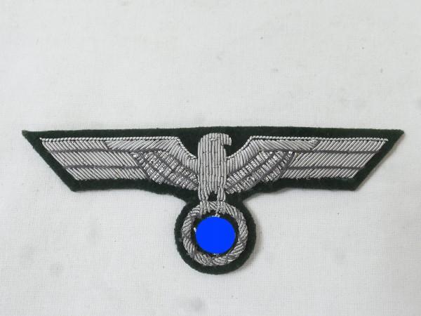 Uniform Offiziers Brustadler M36 Silberfaden gestickt für Feldbluse
