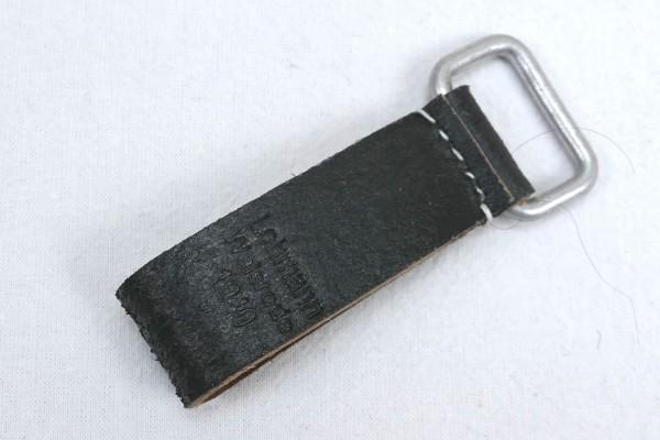 Wehrmacht Leder Koppelschlaufe schwarz 1940 Lederschlaufe für Tragegestell Y-Riemen A-frame