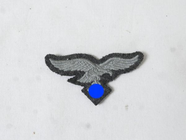Luftwaffe Mützenadler Mützenabzeichen blaugrau gestickt f. Feldmütze / Schiffchen