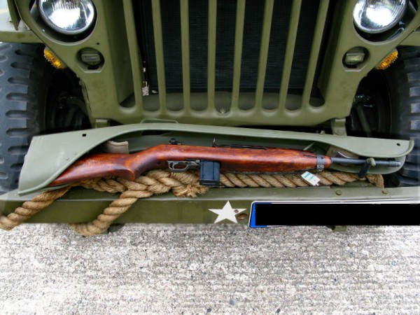 US RIFLE HOLDER Gewehrhalter Halterung M1 Carbine Garand Willys Jeep MB M201
