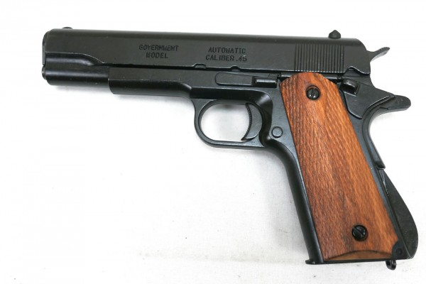 US Army Colt M1911 Automatic Caliber.45 Denix Deko Waffe Holzgriff