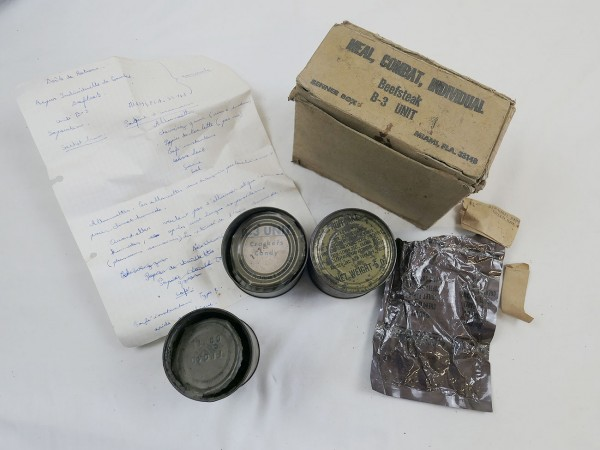 US Army Beefsteak Meal Combat Individual original Viet Nam dated 70er Jahre