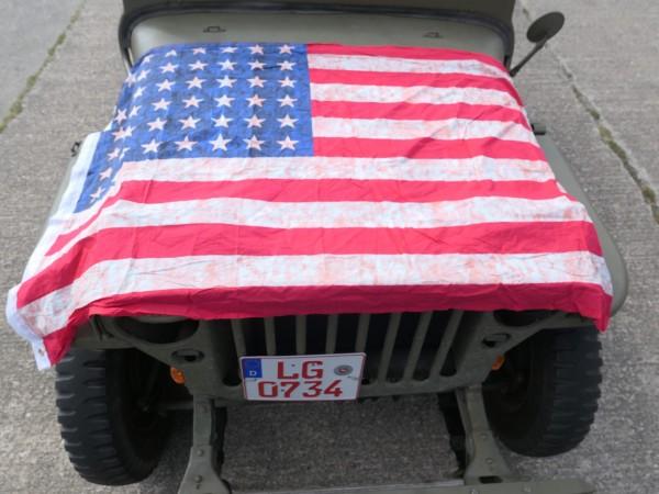 Flag USA WW2 Stars and Stripes 48 Sterne Vintage neu