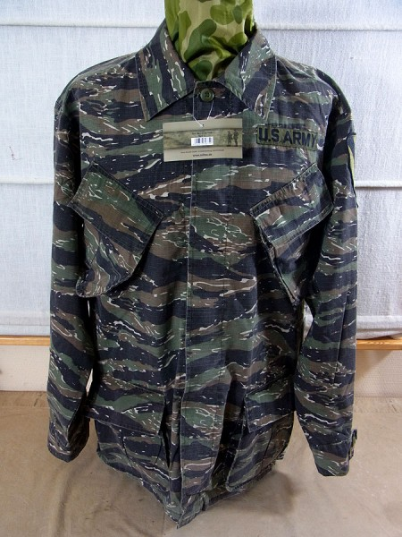 US Army Feldjacke Jungle Jacket M64 Vietnam Tiger Stripe