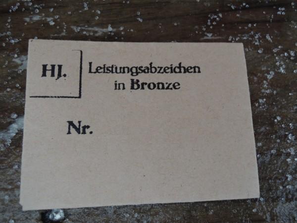 """Verpackung für Orden """"Leistungsabzeichen in Bronze"""""""