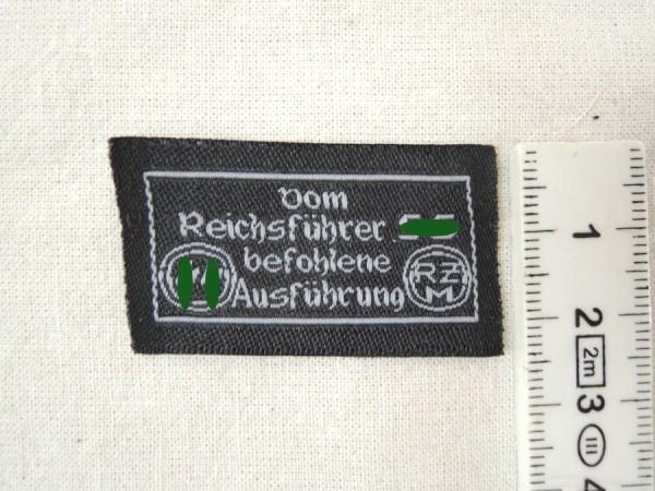 RZM Herstelleretikett für Bekleidung