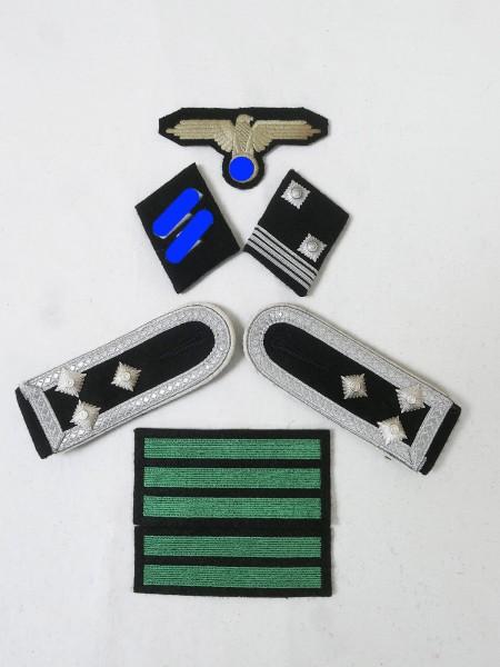 Satz Effekten Abzeichen Waffen Elite Schulterklappen Ärmeladler Kragenspiegel für Sturmscharführer