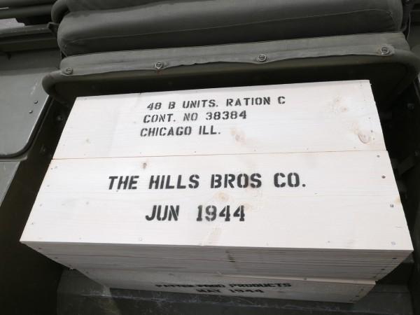 US ARMY WW2 Holzkiste Field Ration C Lager Camp Dekoration Kiste Typ1