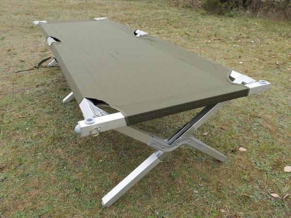 MILTEC US Feldbett Liege ALU stabil Klappbett Camp Cot Folding Outdoor Camping