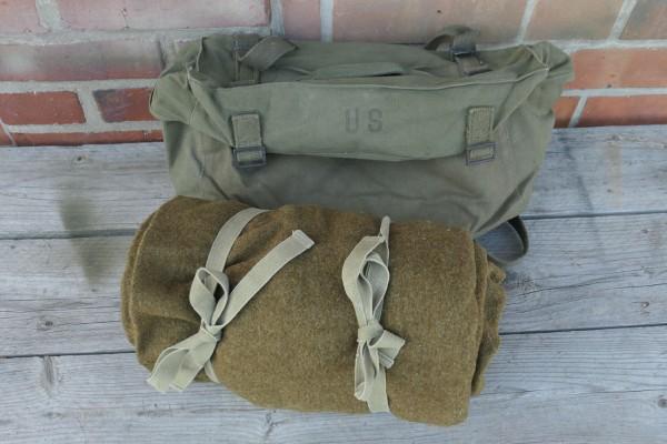 Original US Gepäck - Kampftasche Pack Field Cargo M-1945 mit WW2 US Schlafsack Wolle #4