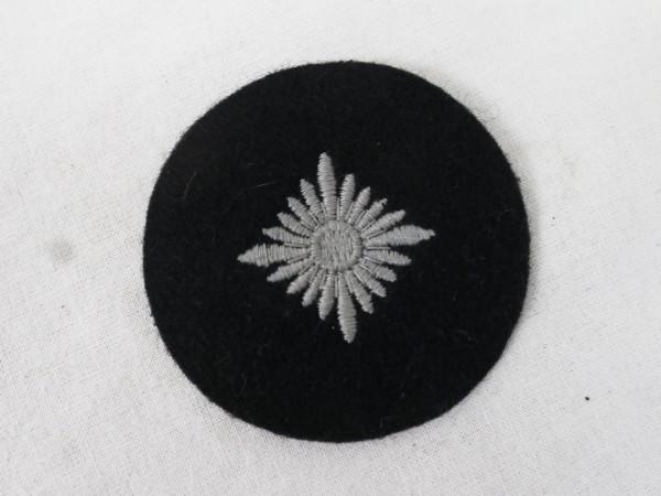 Wehrmacht Panzer Dienstgradstern Silber Stern Stoff gestickt Dienstgradabzeichen Waffenfarbe schwarz
