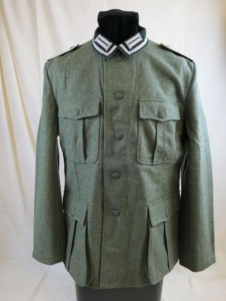 WH Feldbluse M36 Feldjacke Uniform feldgrau Feldwebel mit Litze Kragenspiegeln und Schulterklappen