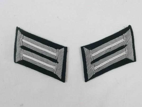 Wehrmacht M36 Kragenspiegel Infanterie Offizier Waffenfarbe weiß