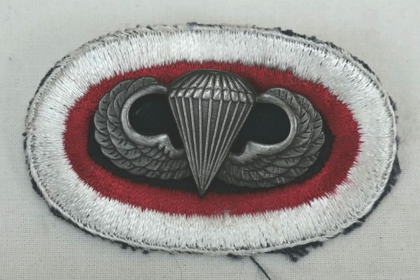 #07 US Airborne Jump Wing oval - Parachute badge Fallschirmjäger Abzeichen Springerabzeichen