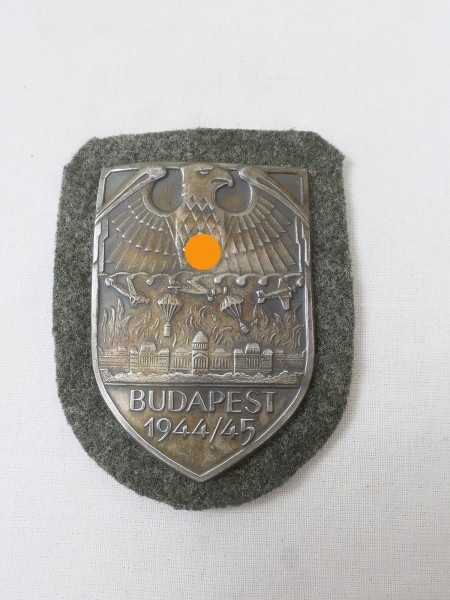 Wehrmacht Ärmelschild Budapest 1944/45 Budapestschild Feldbluse