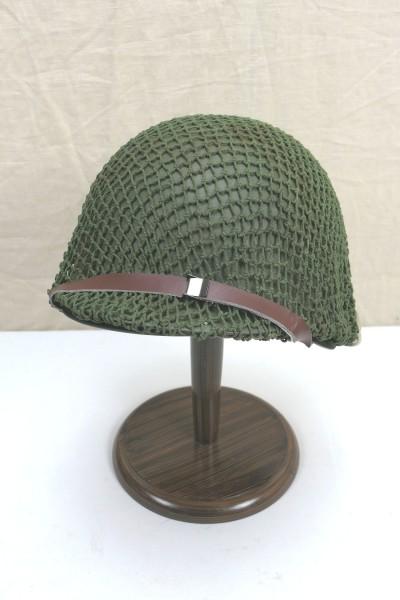 US Army Typ WW2 M1 helmet Stahlhelm komplett Glocke Innenhelm Kinnriemen Helmnetz oliv