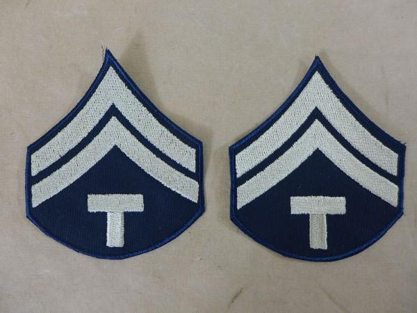 US ARMY WW2 Ranks Dienstgradabzeichen T/5 Technician 5th grade Uniform Rang Abzeichen