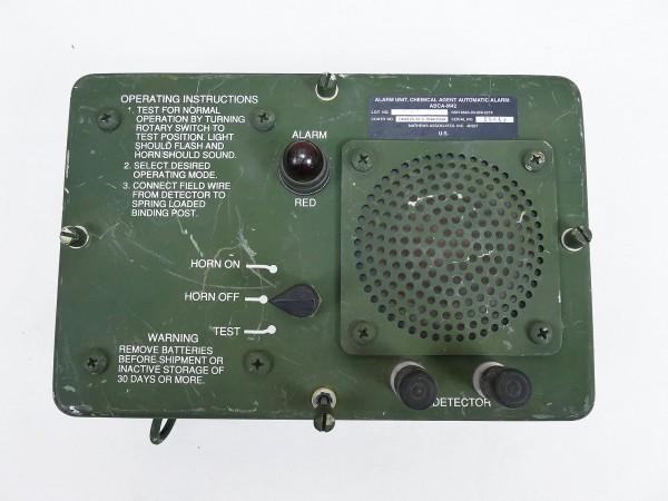 US ARMY Chemical Agent Automatic Alarm Unit ABCA M42 KFZ Militärfahrzeuge Sirene Jeep Humvee