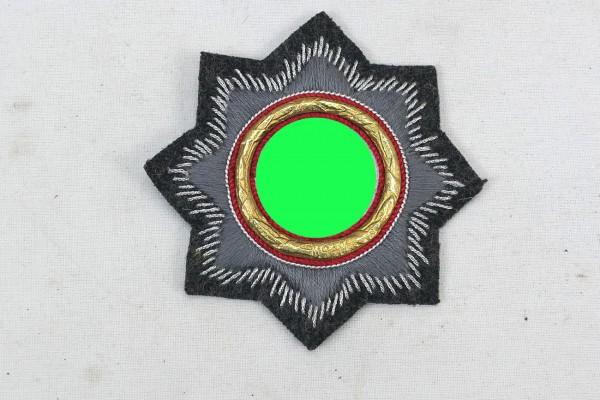Deutsches Kreuz in Gold aus Stoff Luftwaffen Abzeichen Fliegerbluse