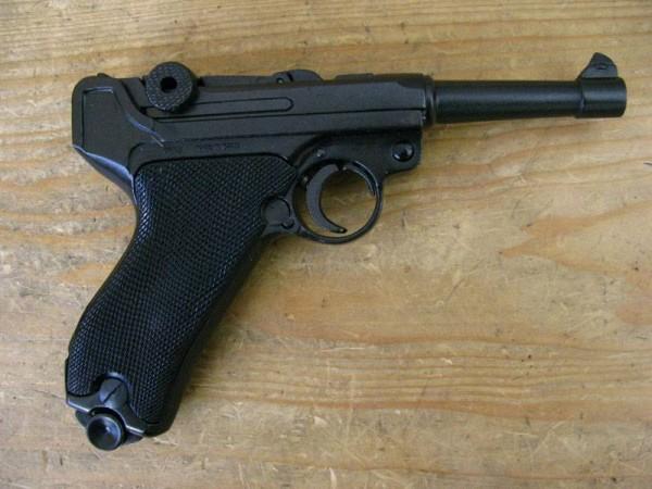 Pistole P08 Deko Modell Filmwaffe