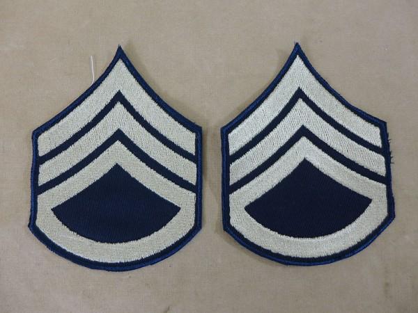 US ARMY WW2 Ranks Dienstgradabzeichen S/Sgt Staff Sergeant Uniform Rang Abzeichen