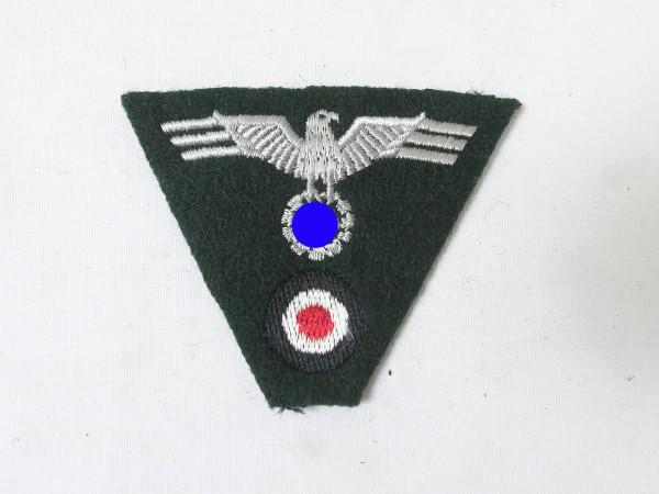 Wehrmacht Heer Trapez Mützenabzeichen gestickt Mützenadler Feldmütze M36