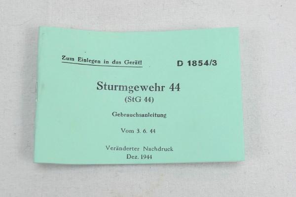 Gebrauchsanleitung Sturmgewehr 44 (StG 44) / Zum Einlegen in das Gerät - Heft Broschüre