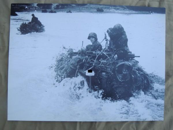 """Poster / Bild Schwimmwagen Komp. XX Pz. Division """"Das Reich"""""""