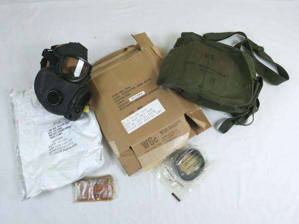 Original US Vietnam Gasmaske M17A1 mit Tasche + Karton Mask Protective Field 1972
