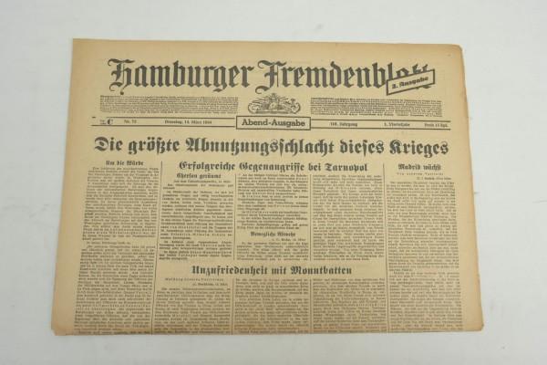 WK2 Tageszeitung Hamburger Fremdenblatt Zeitung 14.März 1944