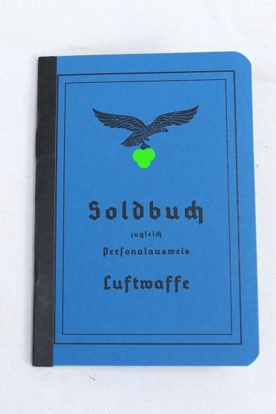 Soldbuch / Personalausweis Luftwaffe mit 5 Einlegern