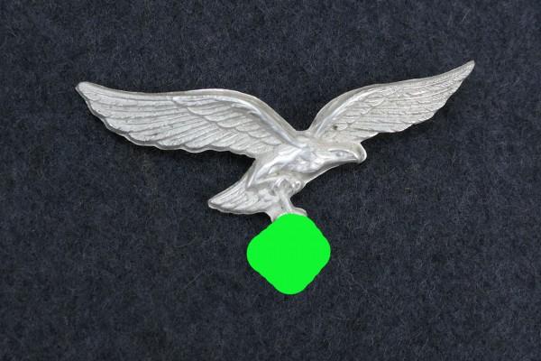 Luftwaffe LW Mützenadler Mützenabzeichen versilbert