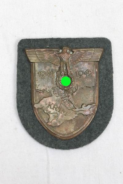 Wehrmacht Ärmelschild Krim 1941 1942 Krimschild Feldbluse