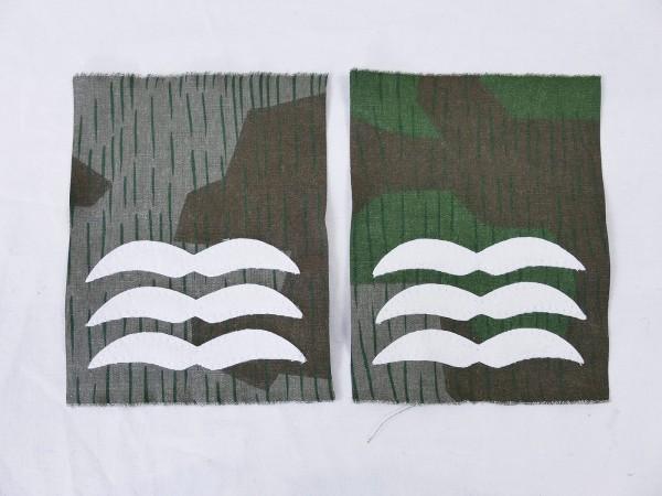 Luftwaffe Dienstgrad Abzeichen FELDWEBEL auf TARNSTOFF Knochensack Fallschirmjäger