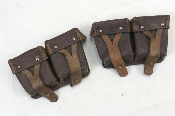 Original Russische Mosin Nagant Patronentaschen 1x Paar braun Leder
