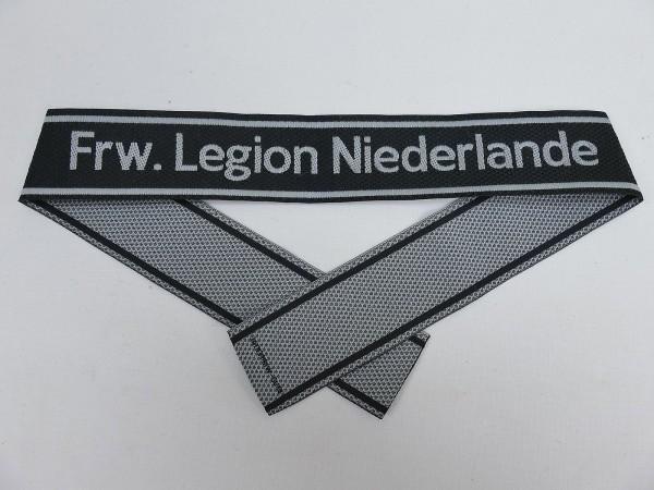 Wehrmacht Elite BEVO Ärmelband Freiwilligen Legion NIEDERLANDE Ärmelstreifen