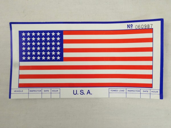 US Army Jeep Frontscheiben Flagge Vehicle Data Flag