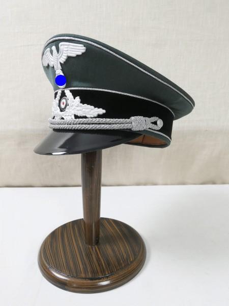 Wehrmacht Gabardine Schirmmütze Diplomatischer Dienst für Offiziere komplett effektiert Gr.58