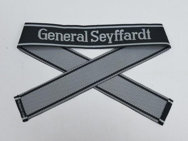 Wehrmacht Elite BEVO Ärmelband SS Regiment GENERAL SEYFFARDT Ärmelstreifen