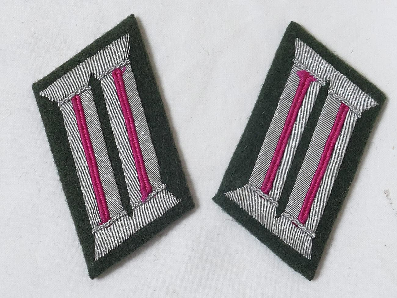 WW2 Reproduktion deutsche Deutsche Armee Offizier Kragenspiegel Panzer Pink