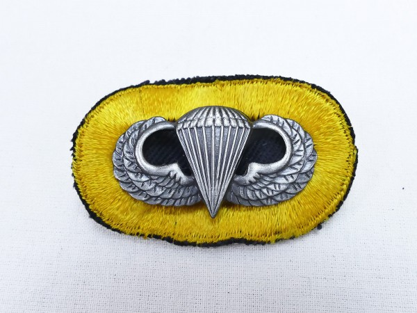 #03 US Airborne Jump Wing oval - Parachute badge Fallschirmjäger Abzeichen Springerabzeichen