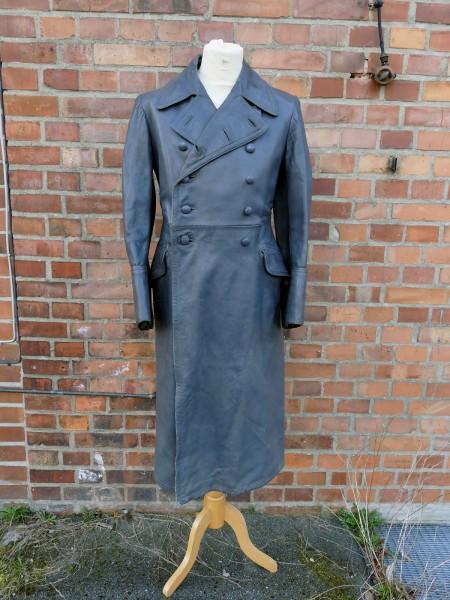 Vintage Wehrmacht Offiziers Mantel Ledermantel Gr.46/48