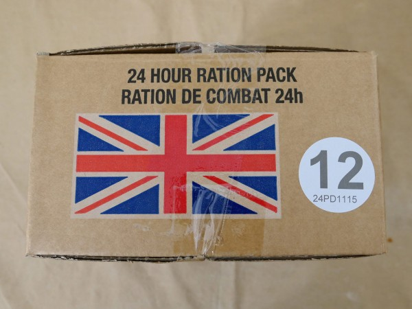 Menue #12 GB ARMY 24 Hour Combat Ration MRE EPA SURVIVAL Notration Verpflegung