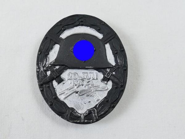 Wehrmacht Verwundetenabzeichen 20.Juli 1944 geschwärzt