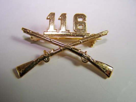 US Army 116th BOS branch of service Kragenabzeichen