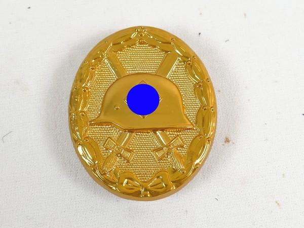 Wehrmacht Verwundetenabzeichen Gold massiv